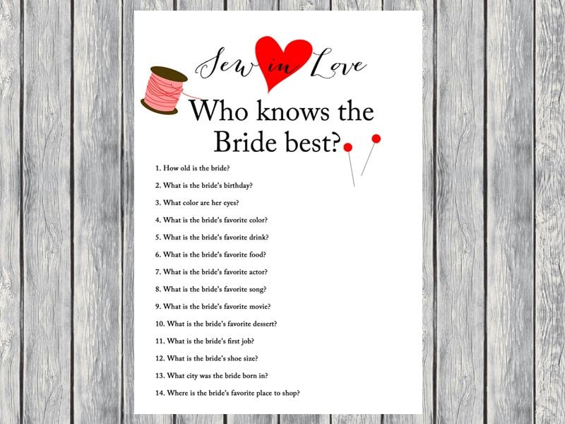 Who Knows Bride Best How Well Do You Know Bride Bridal Quiz