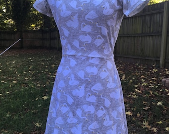Swan Fit and Flare Skater Dress - size Medium