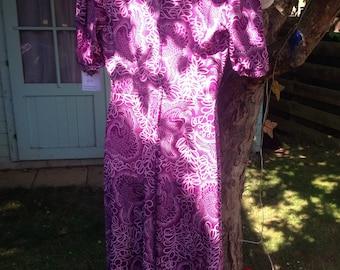 Vintage Swirly Girly Whirly dress