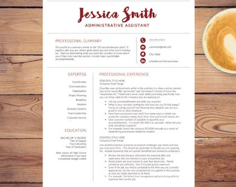 Creative Resume Template for Word A4 & Letter ( 1, 2, 3 page Resume included, Cover, Ref) CV Template | Modern Resume | INSTANT DOWNLOAD