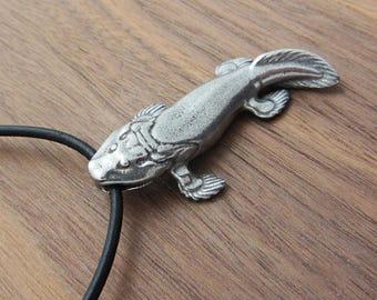 Tiktaalik Necklace - Tiktaalik Pendant,  Fishapod, Evolutionary Biology jewelry, Science Gift