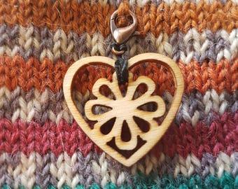 Wooden heart progress keeper / charm