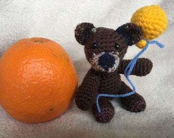 Amigurumi little bear, stuffed crochet bear,