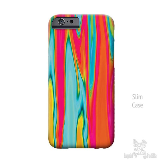 Surf, iPhone 7 Case, iPhone X case, Turquoise and red art, iPhone 7 plus case, iphone 8 case, iPhone 6S case, iPhone 8 Plus case, phone case