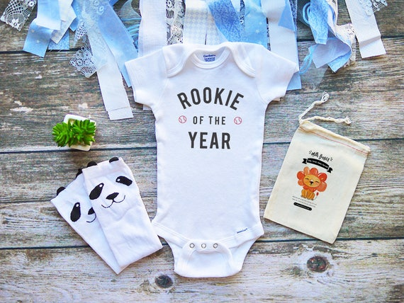 Rookie Of The Year Baseball Onesies® Baby Clothes MLB
