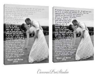 Any design, any Photo on canvas, Choose your font style, Cotton Anniversary Gift, Wedding Canvas Photo Decor, Anniversary or Wedding Art