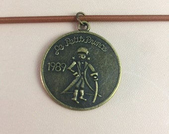 Vintage Brass Charm Pendant for Travelers Notebook, Midori Accessory, Keychain, Necklace Pendant, Vintage 1989
