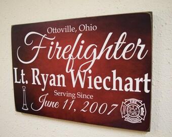 Superieur Firefighter Service Sign, Fireman Sign, Firefighter Gift, Fireman Gift, Firefighter  Decor,