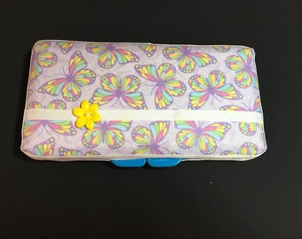Rainbow Butterflies Custom Wipe Case