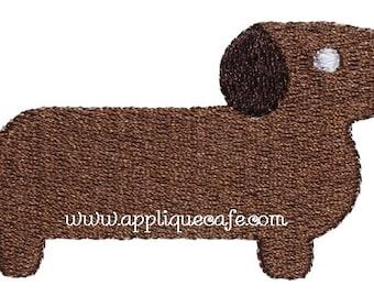 498 Mini Weiner Dog Machine Embroidery Design