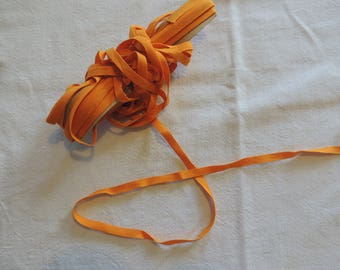 Orange Silk Ribbon width 5 mm