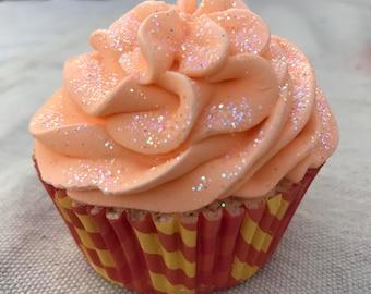 Orange Creamsicle Cupcake Bath Bomb