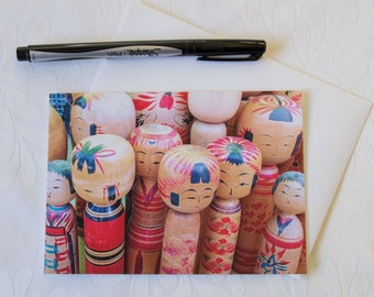 Japanese Kokeshi Dolls // Photographic Greeting Card