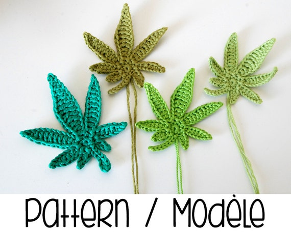 Pdf pattern marijuana leaf crochet pattern crochet pot for Weed leaf template