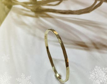 Delicate gold, forged ring, gold, ring in gold