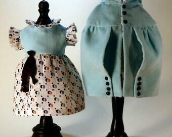Bleuette patterns for doll clothing - 1920's Dress and Cape - La Semaine de Suzette