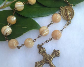 Mother of Pearl Single Decade Finger Rosary
