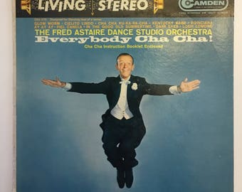 Everybody Cha Cha! Fred Astaire Dance Studio Orchestra Vintage Vinyl Record Album 1959