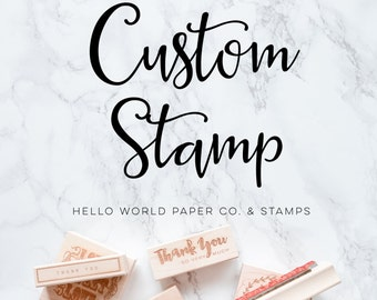 Custom Stamp, Create Your Own Custom Text Stamp, Stamp With Your Text, Name Stamp, Signature Stamp, Stamp for Kids, Make Your Own Stamp