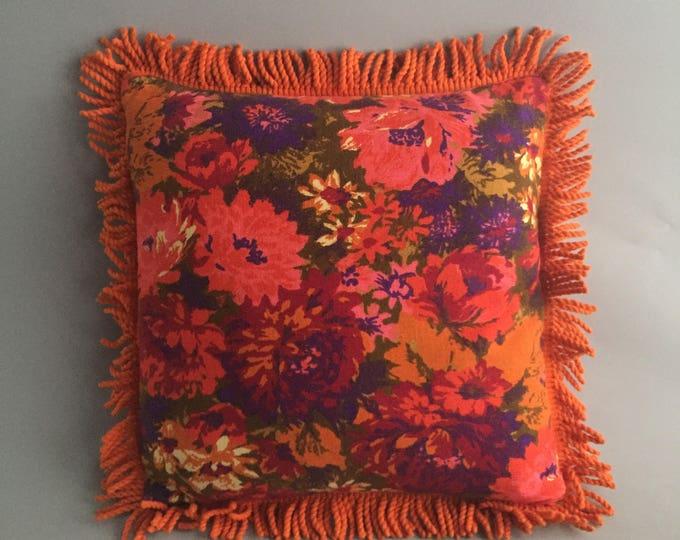 1960s little floral cushion