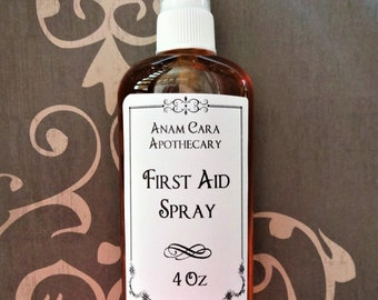 First Aid Spray 4 Oz,Natural Disinfectant For Wounds, Herbal Wound Spray, Herbal Wound Care, Natural Wound Care, Herbal First Aid, Skin Care