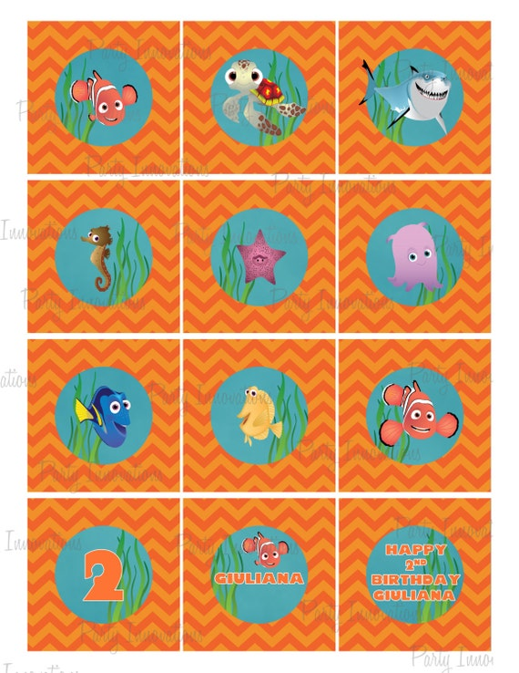 Printable Finding Nemo Cupcake Toppers