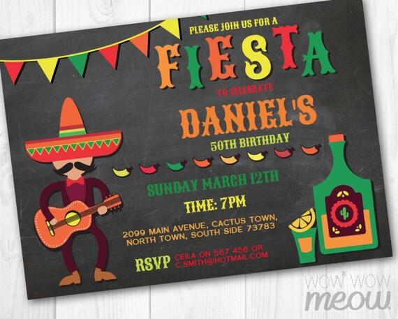 fiesta birthday invitation mexican invite instant download