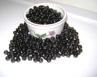 "6 x 9mm ""Black"" Plastic Pony Beads!! 50, 100, 150, 200 etc....up to 500 Beads!!"