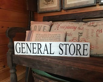 General Store Wood Signs