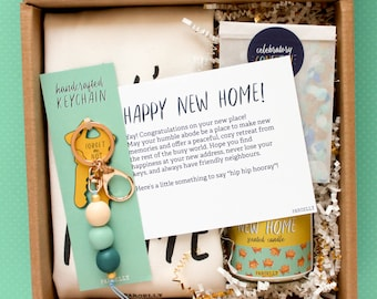 Personalized Housewarming Gift. Housewarming Gift Basket. New House Gift. New Apartment Gift. Moving House Gift. Custom New Home Gift.