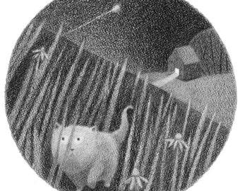 Meadow Hunt - 5x5 print