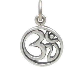 Small Sterling Silver Om Pendant