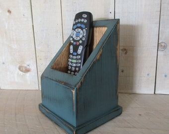 Multi Use Caddy, Remote Control Caddy, Primitive Box, Handmade Caddy, TV Remote Holer, Utility Box, Primitive Decor, (#DKTL)