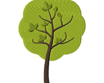 Spring Tree Embroidery Design - Instant Download