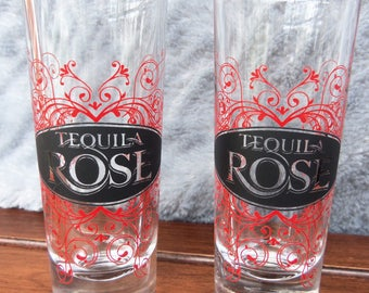 Tequila Rose Black Logo Tall Shooter Shot Glass/Bar ware/Cool Shot Glass