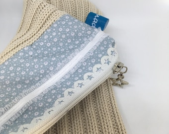 Cotton pouch and jersey knit