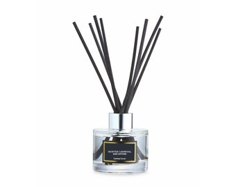 Winter Carnival Reed Diffuser, Cozy Scent, Christmas Gift, Popcorn and Candyfloss Scent