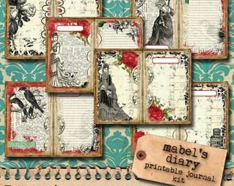 Mabel's Diary - Printable Journal Kit