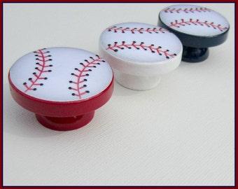 Baseball Knobs • Dresser Drawer Knobs • Drawer Pulls • Baseball Knobs • Sports Drawer Knobs