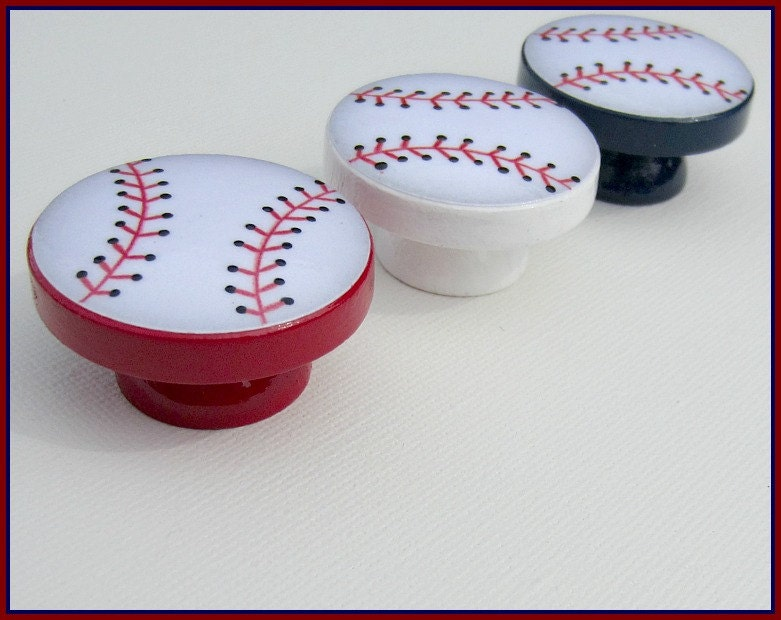 Baseball Knobs • Dresser Drawer Knobs • Drawer Pulls • Baseball ...