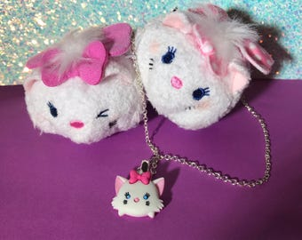 SALE // Marie Tsum Tsum Necklace // Aristocats Inspired // DisneyBound Jewelry / Ready to Ship Gifts for Her / Stocking Stuffers- Cat Lovers