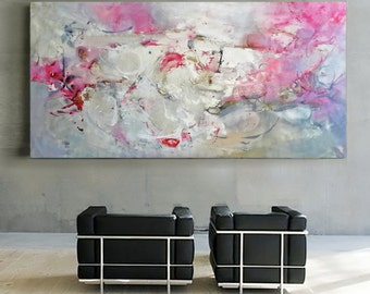 Livingroom decor, Painting extra large, Extra large wall art, Wall hanging, Art painting, Original painting abstract, Acrylic painting, blue
