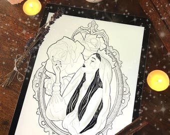 Witchy Queen Print (A4)