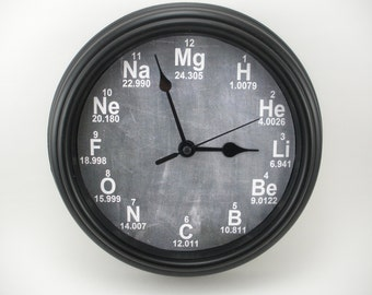 CHEMISTRY Science PERIODIC TABLE  Teacher's Wall Clock