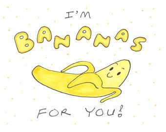Bananas For You - Greeting Card