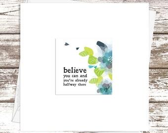 Hand Made Cards. Best Friend Card. Encouragement card. Believe Card. Greeting Card Hand Made. Congratulations Card. Exam Card. Positivity.