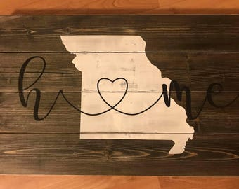 Home State Love Sign