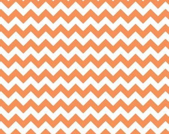 Riley Blake Designs, Small Chevron in Orange C340 60)