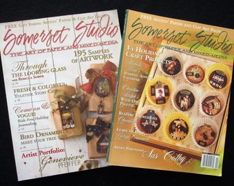 SOMERSET STUDIO 2 Paper and Mixed Media Back Issue Magazines