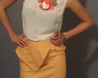 Kristina peplum skirt Orange